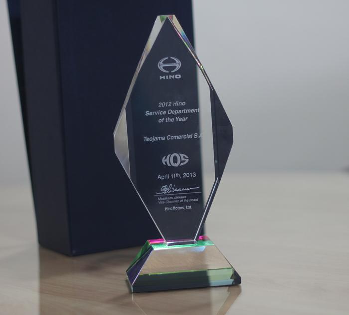 Teojama es premiado por su servicio por segundo año consecutivo