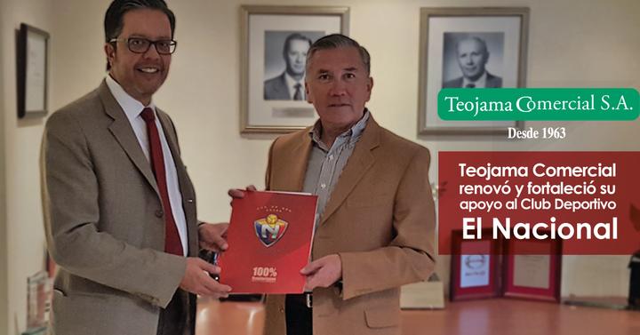 Teojama Comercial renovó y fortaleció su apoyo al Club Deportivo El Nacional