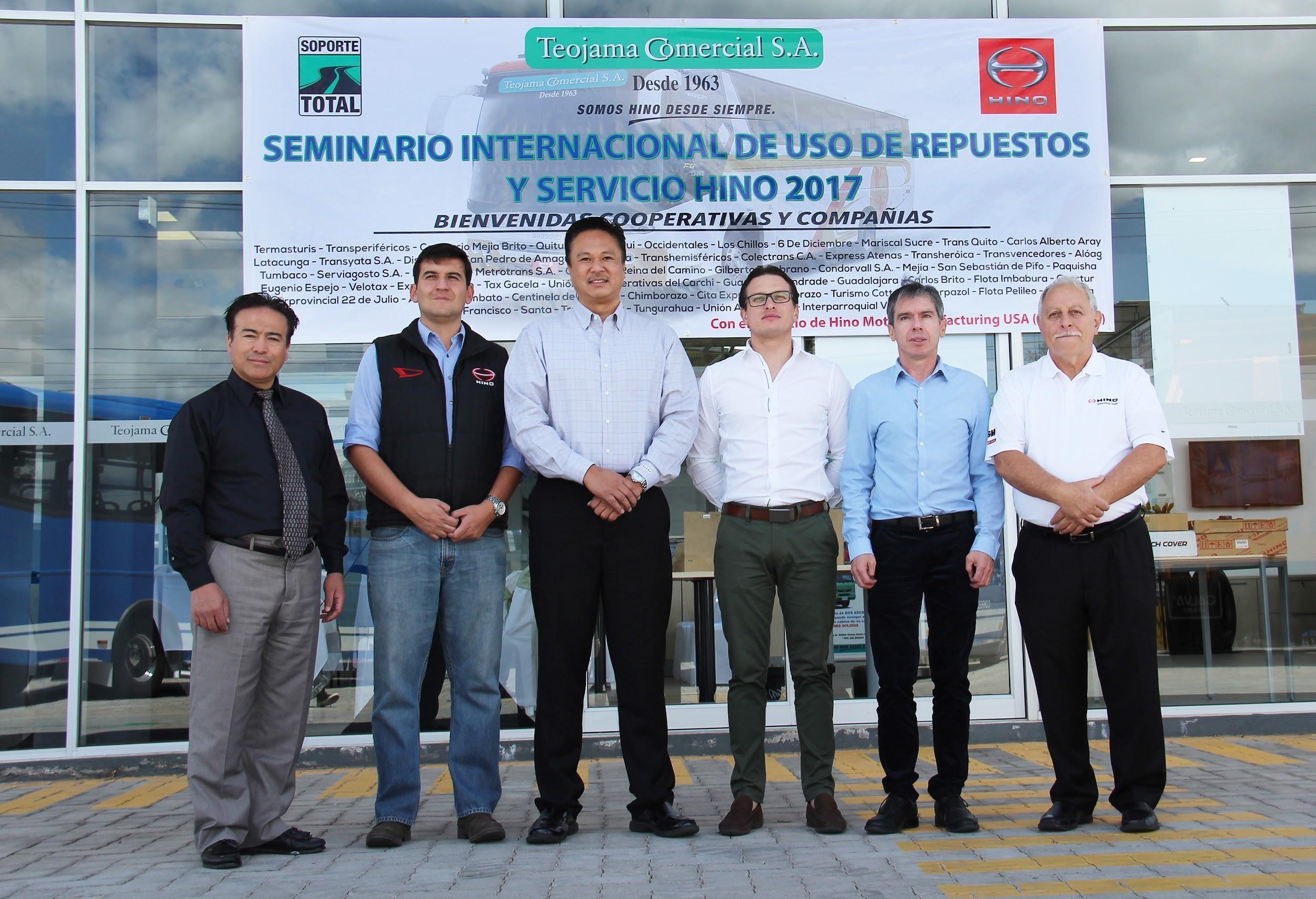 Teojama Comercial lideró el Seminario Internacional de uso de repuestos y servicio Hino 2017