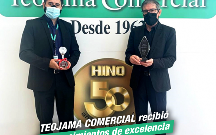 Teojama Comercial recibió reconocimientos de excelencia por parte de Hino Motors.