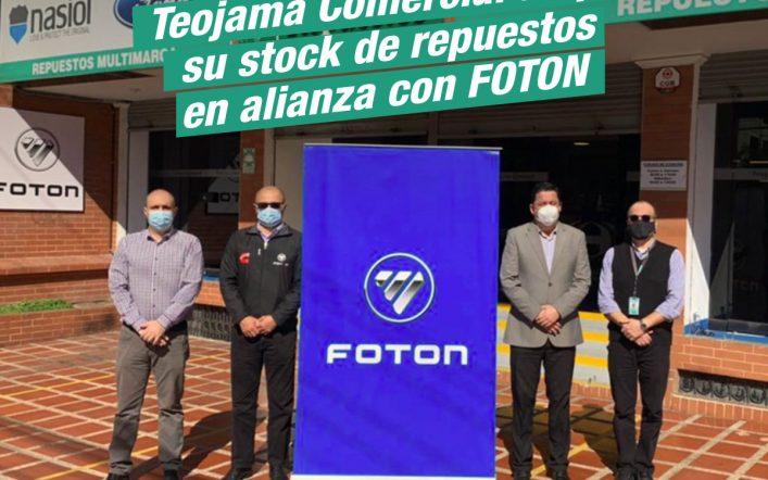 Teojama Comercial amplía su stock de repuestos en alianza con FOTON